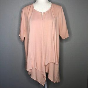 Cirana Oversized Asymmetrical Short Sleeve Tunic